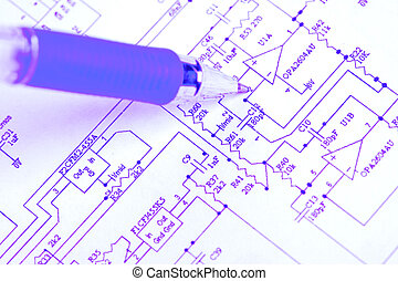 Ideal technology background - An electronic schematic...