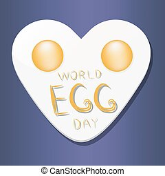 The chicken egg - Abstract vector illustration of logo for...