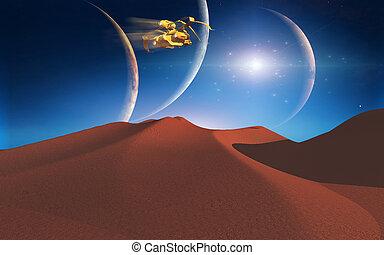Space journey - Space landscape