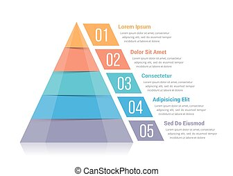 Pyramid Infographics - Pyramid infographic template with...