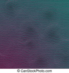 Vector Equalizer Frequency Glitch Effect - Illustration of...