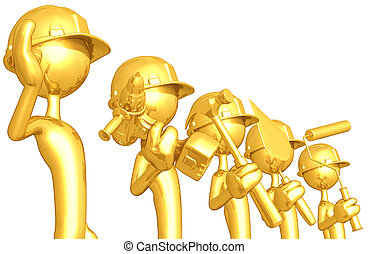 Gold Guy Construction Crew - A Concept And Presentation...