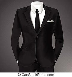 Business Suit Template - Business suit template with black...