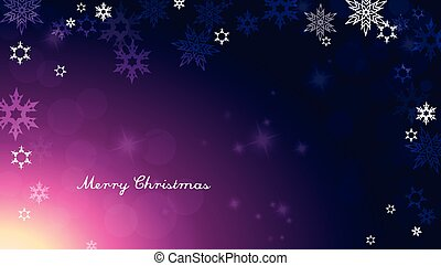 Dark Christmas background with snowflakes and simple Merry...