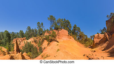 Ochre canyon near Roussillon in Provence France - travel and...