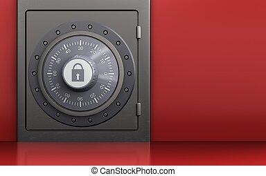3d combination lock safe