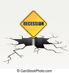 Deep Crack Recession - detailed illustration of a cracked...
