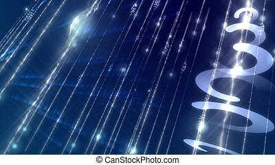 Light sparkling cyberspace shot diagonally - Abstract 3d...