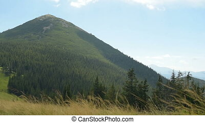 Carpathians, Mount Khomyak - Mountains Landscape, Blue Sky...