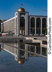 Government building in Bishkek, Uzbekistan