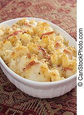Tomato Macaroni and Cheese - Creamy baked macaroni and...
