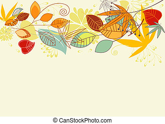 Autumn leaves background - Autumn colorful leaves background...
