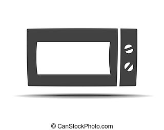 Microwave vector icon. Home appliances symbol. Modern,...