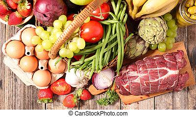 various of food