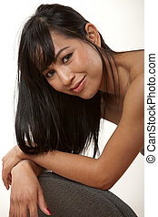 Attractive thirties asian female