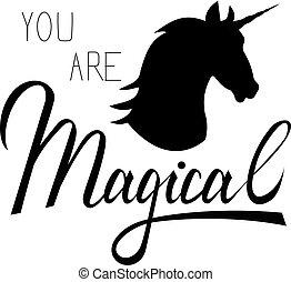 Unicorn mythical horse - Unicorn head mythical horse in...
