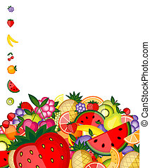 Energy fruit background for your design