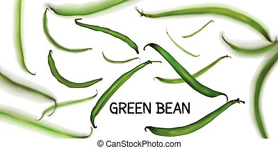 Flying green beans, for a vegetarian salad