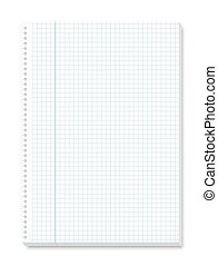 Notepad Squared Paper Spiral Binding - Notepad with squared...