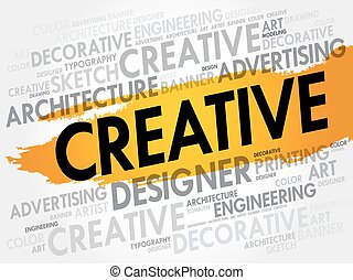 CREATIVE word cloud, business concept