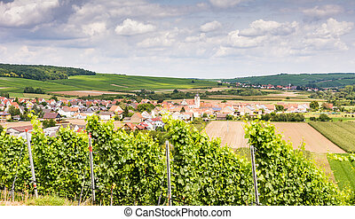 Wine-growing district in Franconia (Germany)