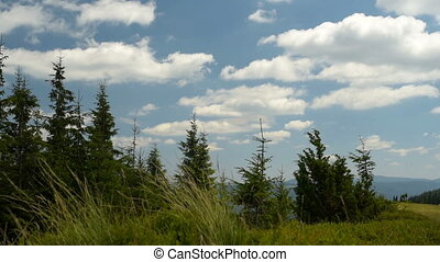 Mountains and clouds - Mountains Landscape, Blue Sky With...