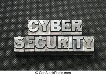 cyber security bm - cyber question made from metallic...