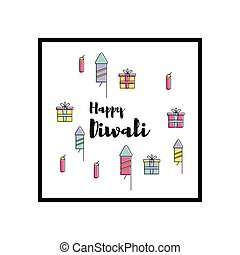 Happy Diwali text design - Creative poster, banner or flyer...