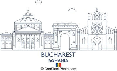 Bucharest City Skyline, Romania - Bucharest Linear City...