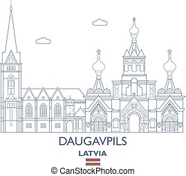 Daugavpils City Skyline, Latvia - Daugavpils Linear City...