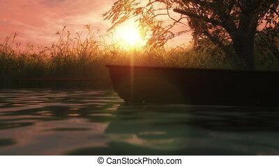 sunset lite boat 4k