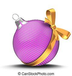 3d pink Christmass ball - 3d illustration of pink Christmass...