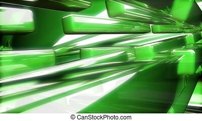 Green Glass Beams