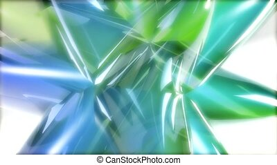 Blue green star with many points
