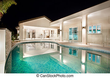 Luxury Pool with a Home