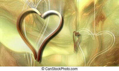 Gold Metal Hearts