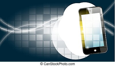 smart phone - Illustration of smart phone on abstract...