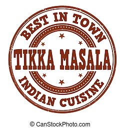 Tikka masala sign or stamp