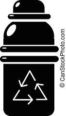 Purified water container icon, simple style - Purified water...