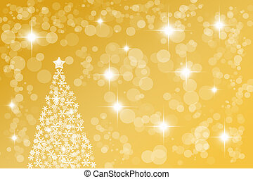 Golden abstract Christmas background - Abstract background...