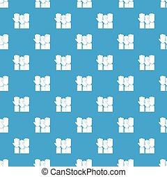 Different people hands raised up pattern seamless blue