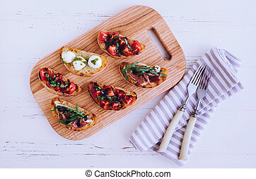 Brushetta or authentic traditional spanish tapas for lunch...