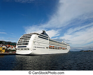 Ferry in Stavanger, Norway. Photo taken on: August 18th,...