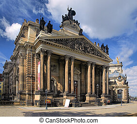 Dresden - View of the beautiful architecture of Dresden,...