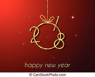 2018 Happy New Year background. - 2018 Happy New Year...