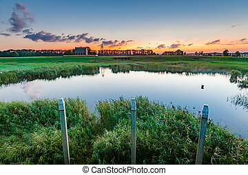 The old harbor of the former island of Schokland in Flevoland.