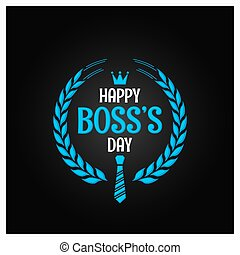 boss day logo sign design background 10 eps