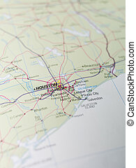Map of Houston in Texas