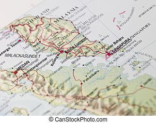 Map of Kuala Lumpor