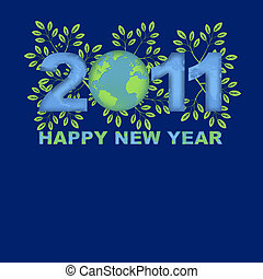 Happy New Year 2011 Green Planet Blue - Happy New Year 2011...